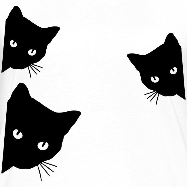 Vorschau: cats - Frauen Kontrast-T-Shirt