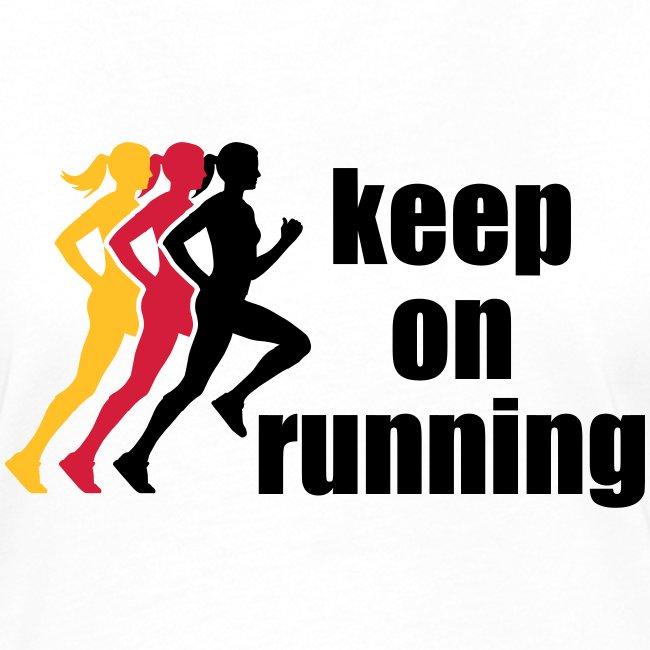 keep on running 3 women