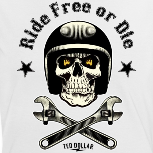 Ride free or die - T-shirt contrasté Femme