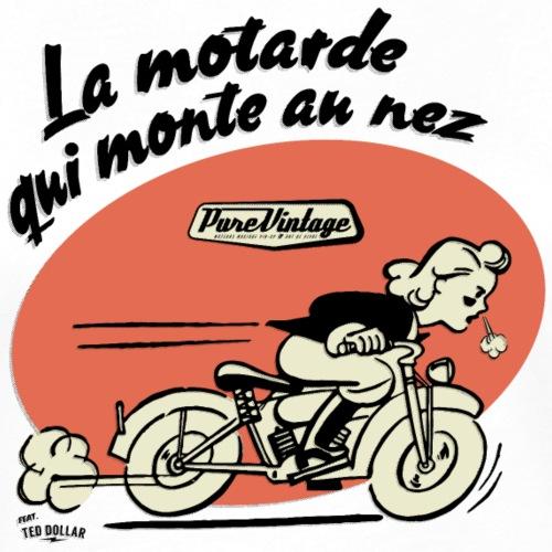 La motarde qui monte au nez - T-shirt contrasté Femme
