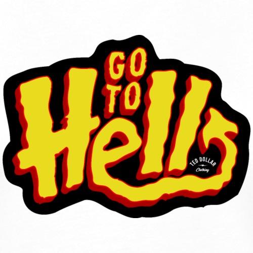 Go to Hell - T-shirt contrasté Femme