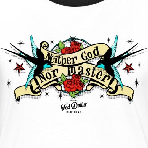 Neither god nor master - T-shirt contrasté Femme