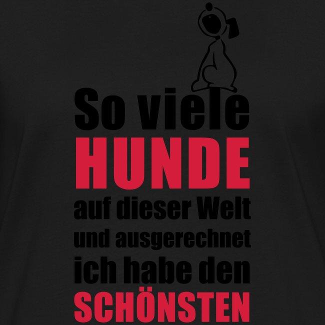 Vorschau: Der schönste HUND - Frauen Kontrast-T-Shirt