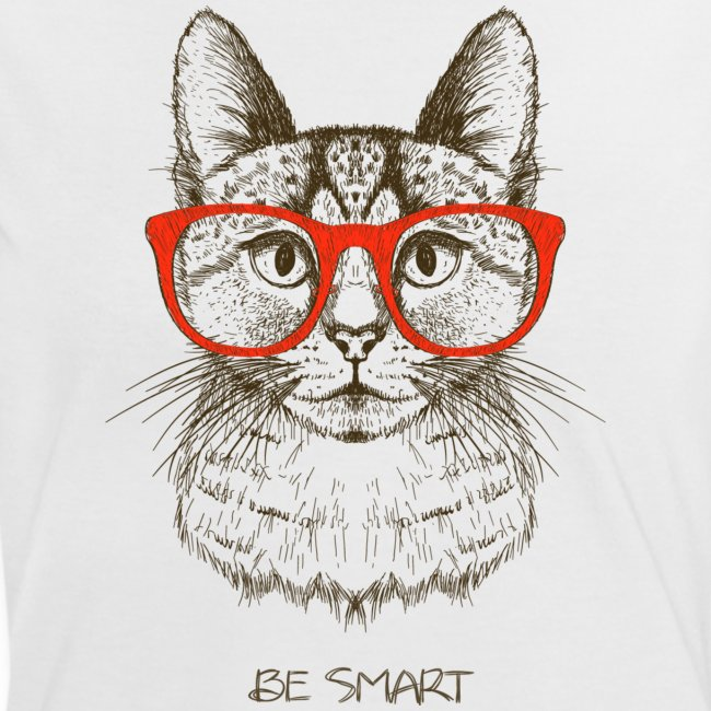 Cat Hipster - Frauen Kontrast-T-Shirt
