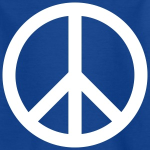 Peace Sign Fylld Vit - T-shirt barn