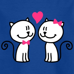 valentine-cats1 - Kinder T-Shirt