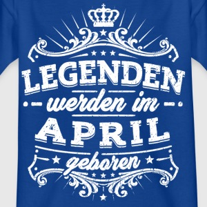 Legends er født i april - Børne-T-shirt
