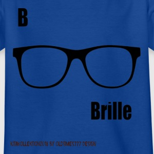 Brille kita - Kinder T-Shirt