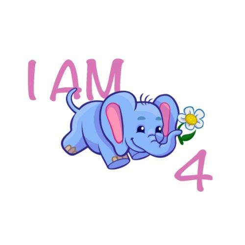 I am 4 - elephant pink