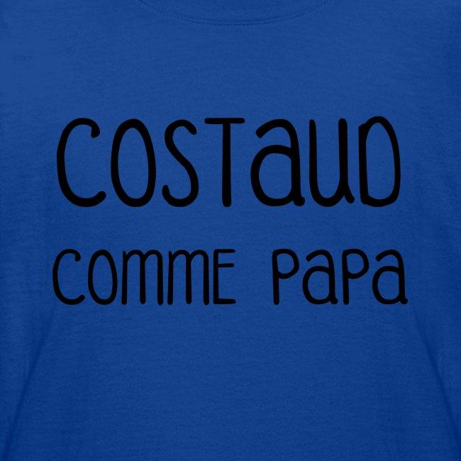 T-shirt Body Costaud comme Papa fun et rigolo