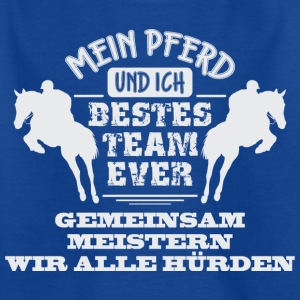 Pferdedesign Bestes Team Ever - Kinder T-Shirt