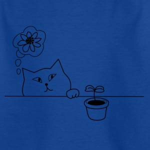 Cat & Plant - T-skjorte for barn