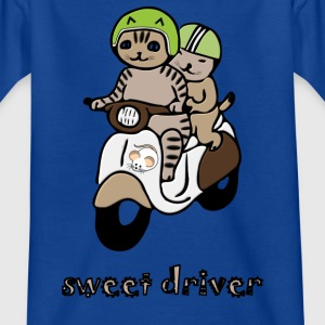 scooters propelled Cats - Kids' T-Shirt