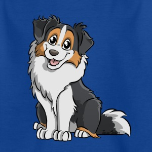 Black Tricolor Australian Shepherd - Kinderen T-shirt