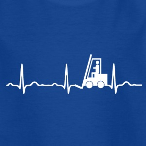 ECG HEARTBAR FORKLIFTS white - Kids' T-Shirt