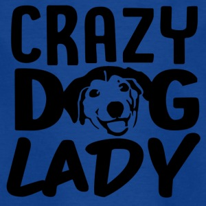 ++ Carzy Dog Lady ++ - T-shirt barn