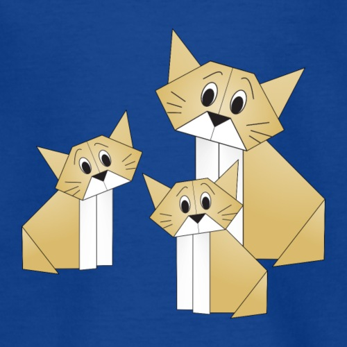 Chat et chatons origami - Origami cat and kittens