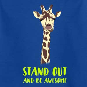 giraffe stand up tall prompt demanding hi - Kids' T-Shirt