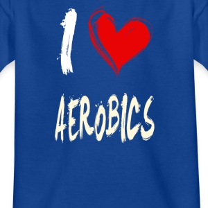 I Love Aerobics - T-skjorte for barn