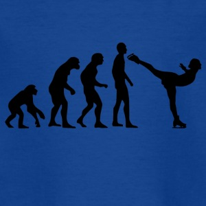 Human Evolution Eislaufen - Kinder T-Shirt