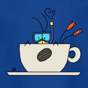 Diving into coffee - Kinderen T-shirt