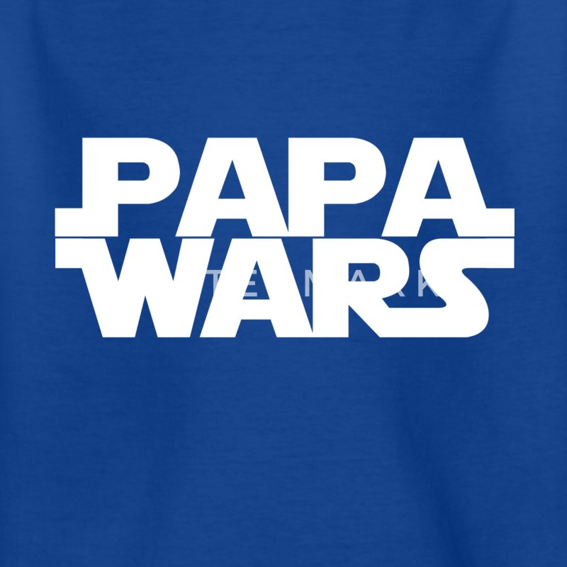 Papa wars - weiß - Kinder T-Shirt