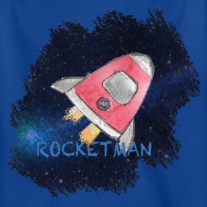 Rocketman - Spaceship i verdensrommet Artwork - T-skjorte for barn