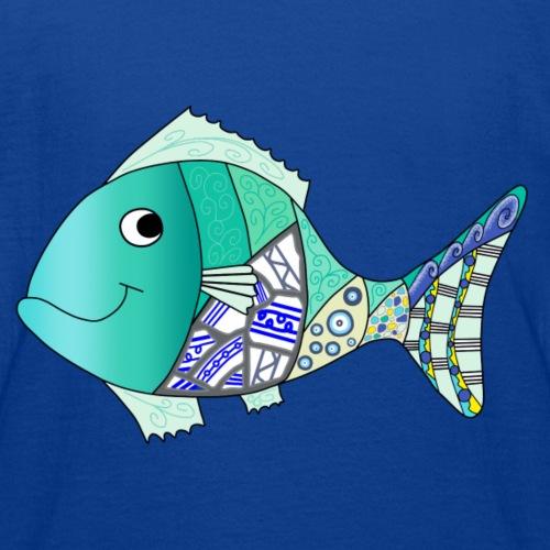 Blue mosaic fish - Kids' T-Shirt