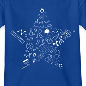 nerd star pi Physics Math Symbols Icon fu - Kids' T-Shirt