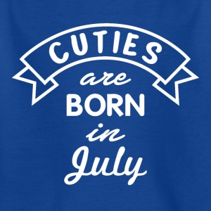 Gift of July Bursdag Cuties - T-skjorte for barn