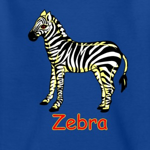 Vector Zebra - T-skjorte for barn
