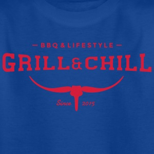 Grill and Chill / barbacoa y estilo de vida Logo 2 - Camiseta niño
