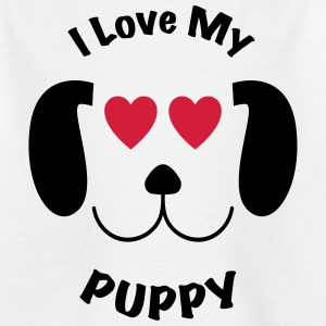 Jeg elsker min PUPPY AWSOME T-SHIRT DESIGN - T-skjorte for barn