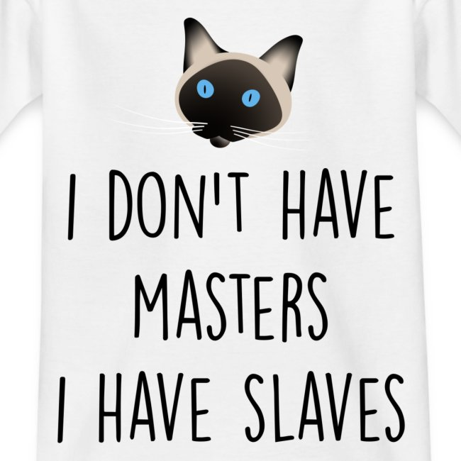 I don't have masters I have slaves