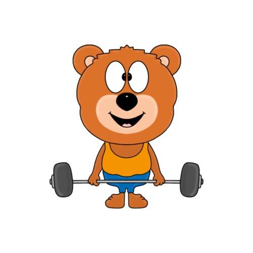 Teddy - Bär - Fitness - Gewichtheber - Sport - Kinder T-Shirt