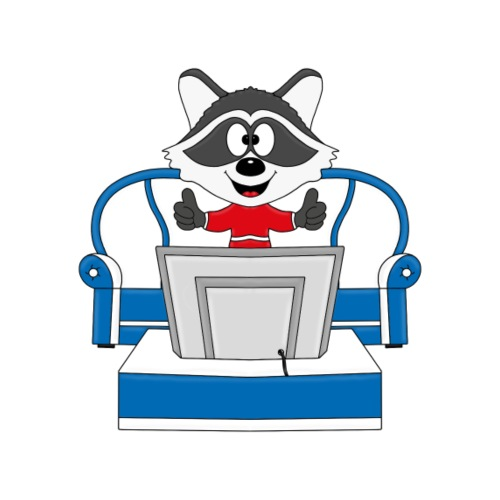 Waschbär - Fernseher - TV - Tier - Kinder - Fun - Kinder T-Shirt