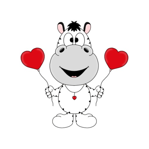 Zebra - Luftballons - Herzen - Liebe - Love - Tier - Kinder T-Shirt