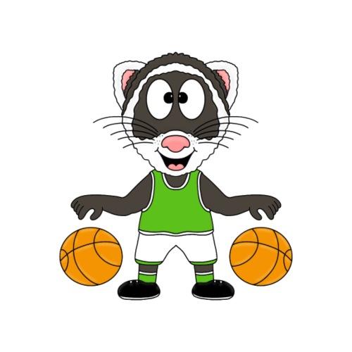 Frettchen - Basketball - Tier - Sport - Kinder - Kinder T-Shirt