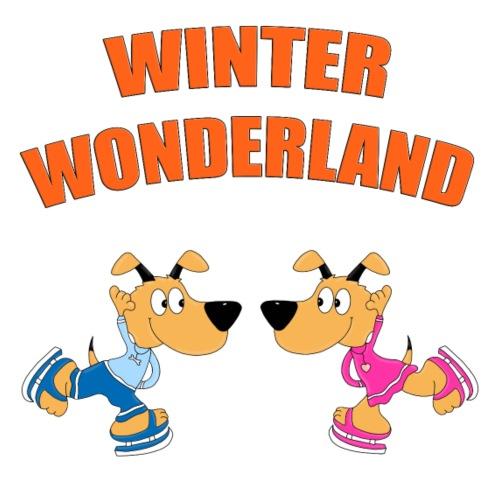 Hunde - Eislaufen - Liebe - WINTER WONDERLAND - Kinder T-Shirt