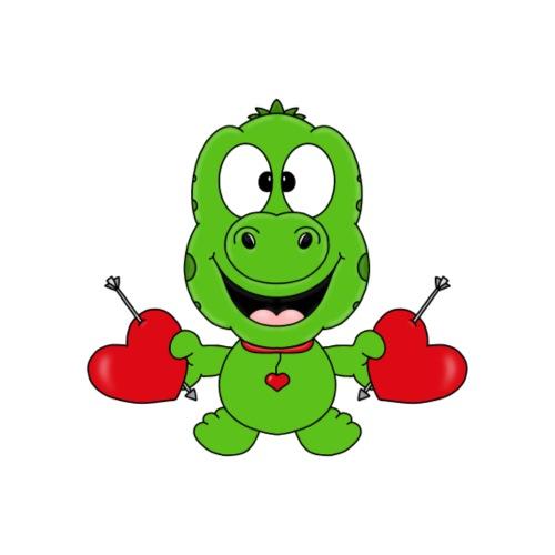 Gecko - Herzen - Liebe - Geschenke - Comic - Kinder T-Shirt