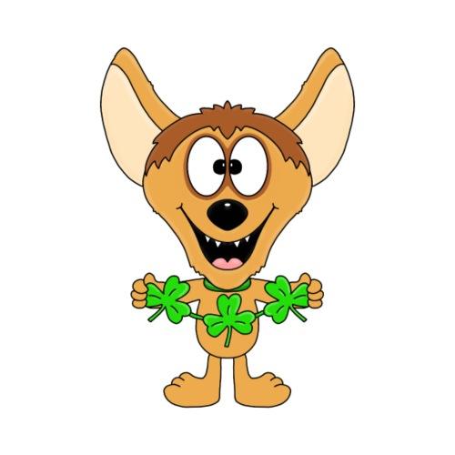 Hyäne - Kleeblätter - Geschenke - Comic - Fun - Kinder T-Shirt