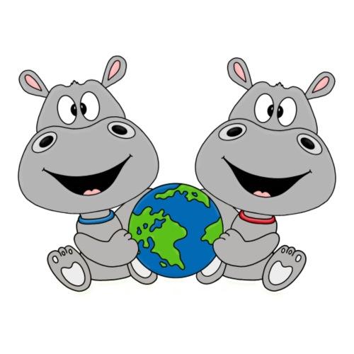 NILPFERDE - ERDE - WELT - TIERE - LIEBE - FUN - Kinder T-Shirt