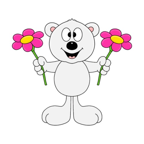 EISBÄR - BLUMEN - FLOWERS - LIEBE - LOVE - TIER - Kinder T-Shirt