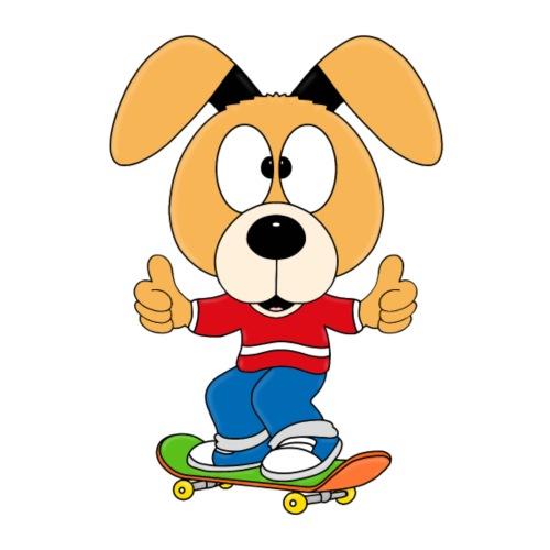 HUND - DOG - SKATER - SKATEBOARD - TIER - KIND - Kinder T-Shirt