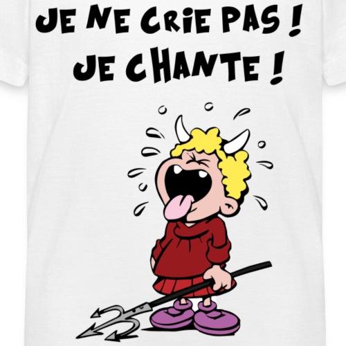 crie et chante dessin - T-shirt Enfant