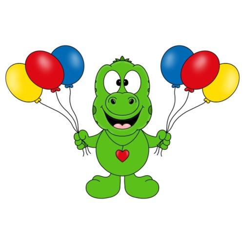 Gecko - Luftballons - Kinder - Tier - Comic - Kinder T-Shirt