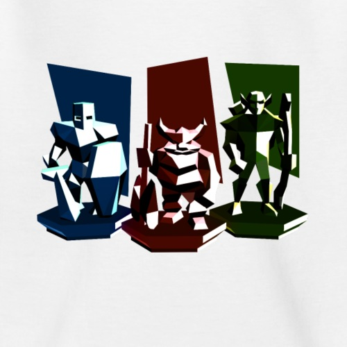 Low Poly Fantasy Colors - Kinder T-Shirt