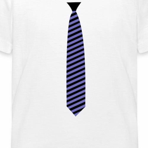 Cravate Violet et Noir - T-shirt Enfant