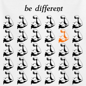 Fitnessshirt Fitnessaccessories be different - Kinder T-Shirt
