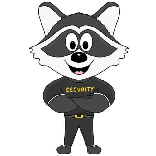 Waschbär - Security - Bodyguard - Tier - Comic - Kinder T-Shirt